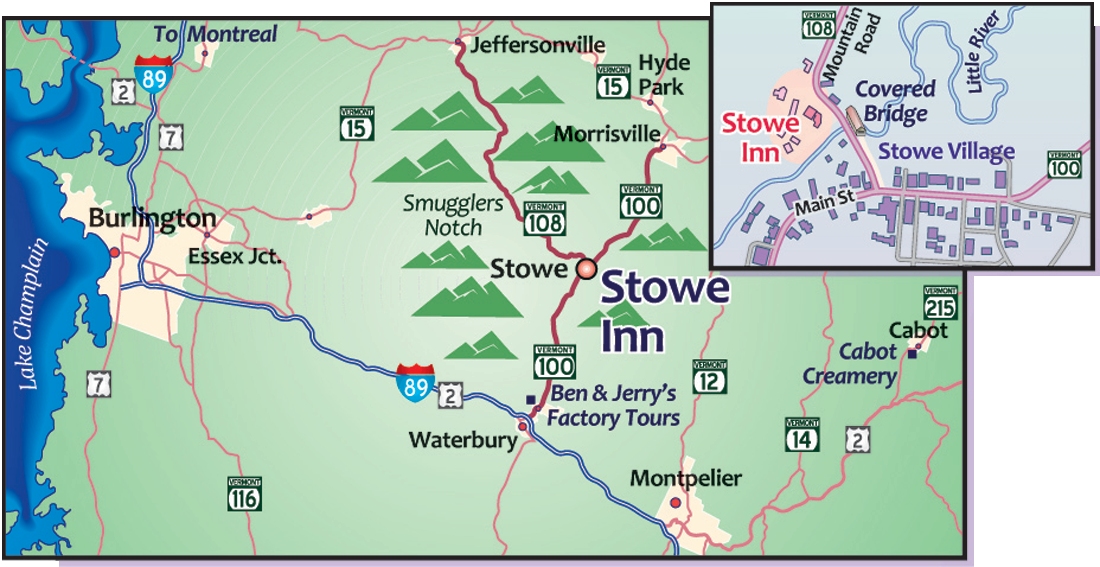 Stowe To Foxwoods Casino Map Route